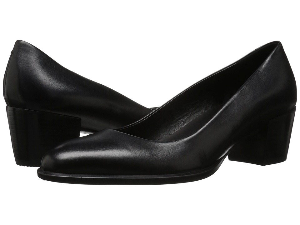 ECCO - Shape 35 Pump (Black Cow Leather) Women's 1-2 inch heel Shoes