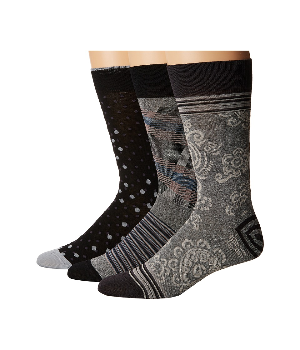 BUGATCHI - Da Vinci (Platinum) Men's Crew Cut Socks Shoes