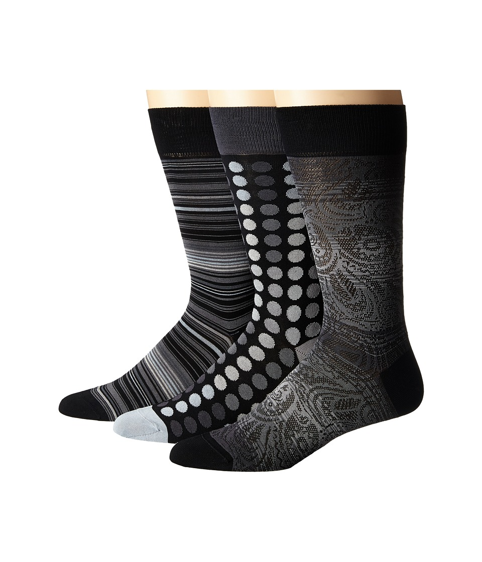 BUGATCHI - Picasso (Charcoal) Men's Crew Cut Socks Shoes