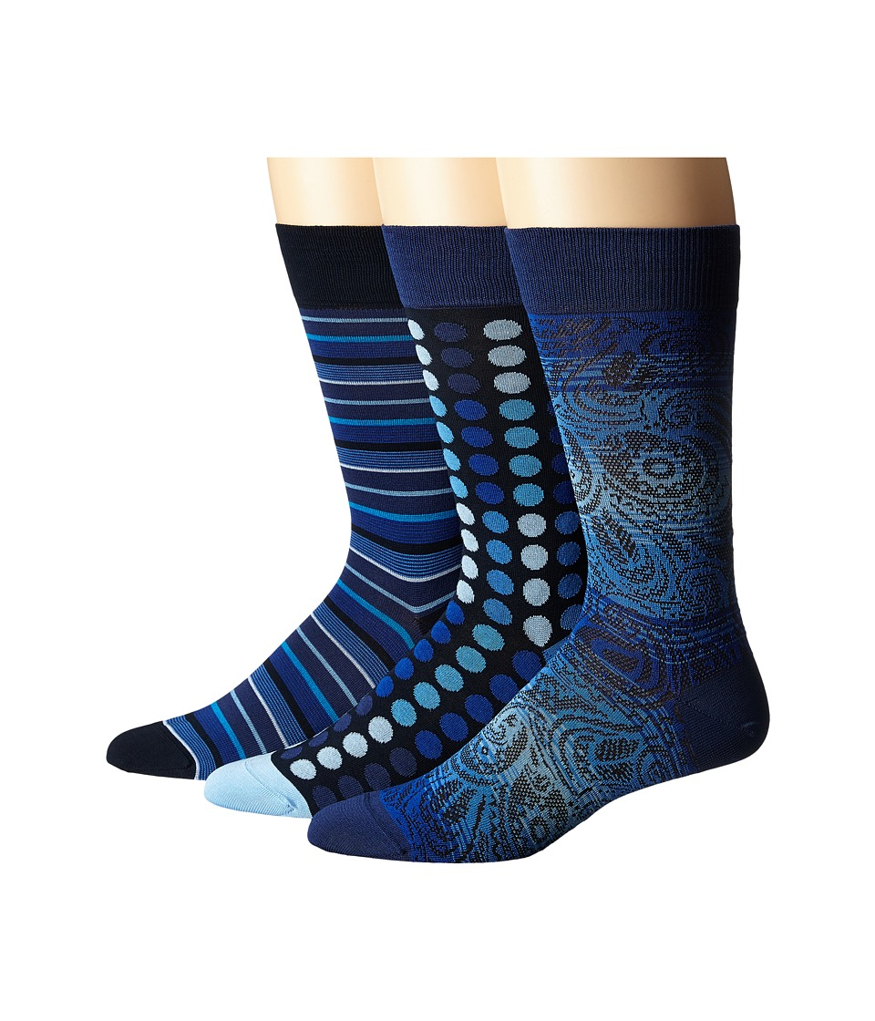 BUGATCHI - Goya (Classic Blue) Men's Crew Cut Socks Shoes