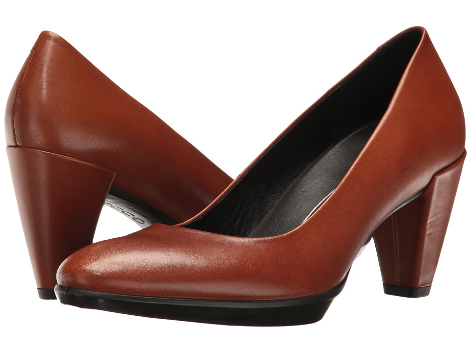 ECCO - Shape 55 Plateau Pump (Amber) High Heels