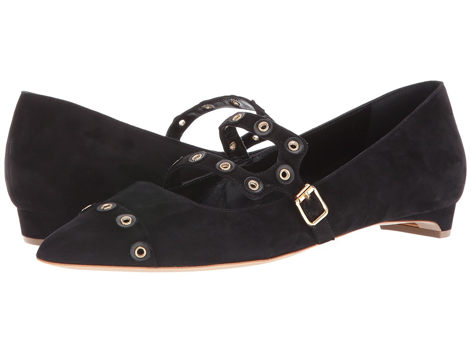 Rupert Sanderson - Perdita (Black Suede) Women's Flat Shoes