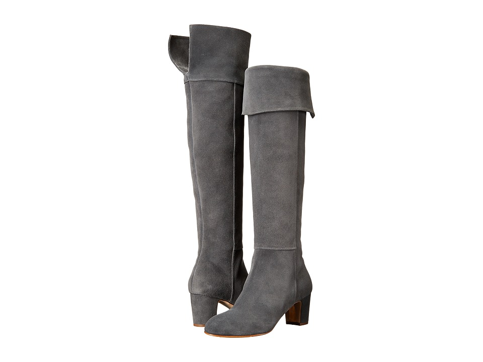 Rupert Sanderson - Brockwell (Pewter Coarse Suede) Women's Boots