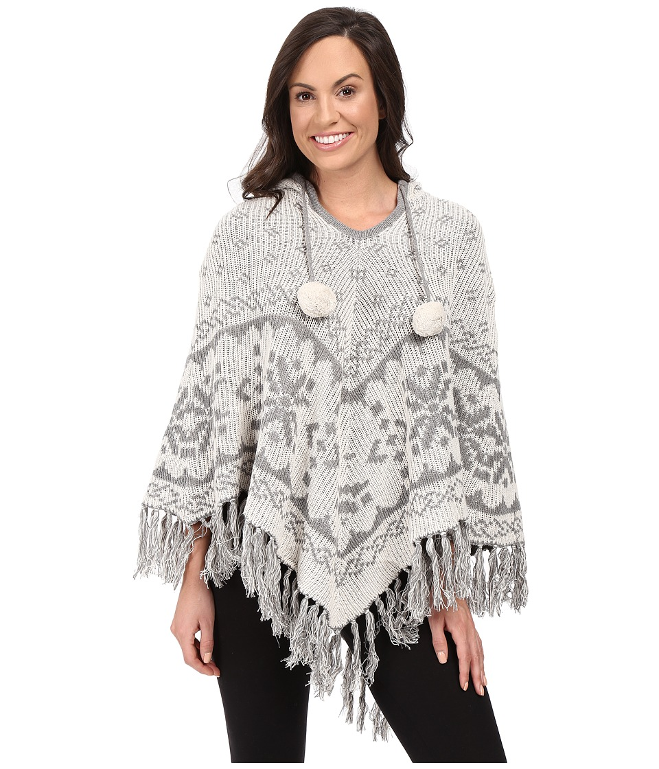 P.J. Salvage - Fair Isle Reversible Knit Poncho (Natural) Women's Pajama