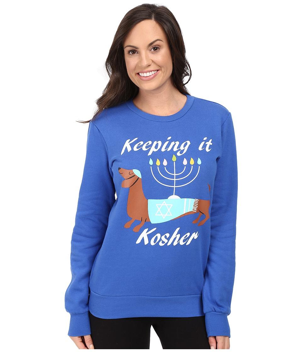 P.J. Salvage - Keeping It Kosher Sweatshirt (Royal Blue) Women's Pajama