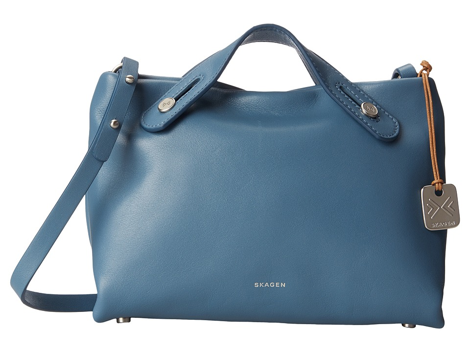 Skagen - Mini Mikkeline Satchel (Smokey Blue) Satchel Handbags