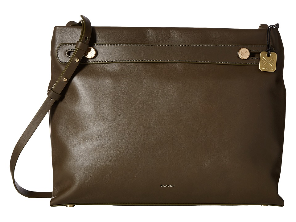 Skagen - Mikkeline Satchel (Dark Green) Satchel Handbags