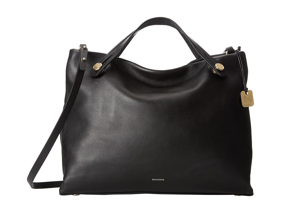 Skagen - Mikkeline Satchel (Black) Satchel Handbags