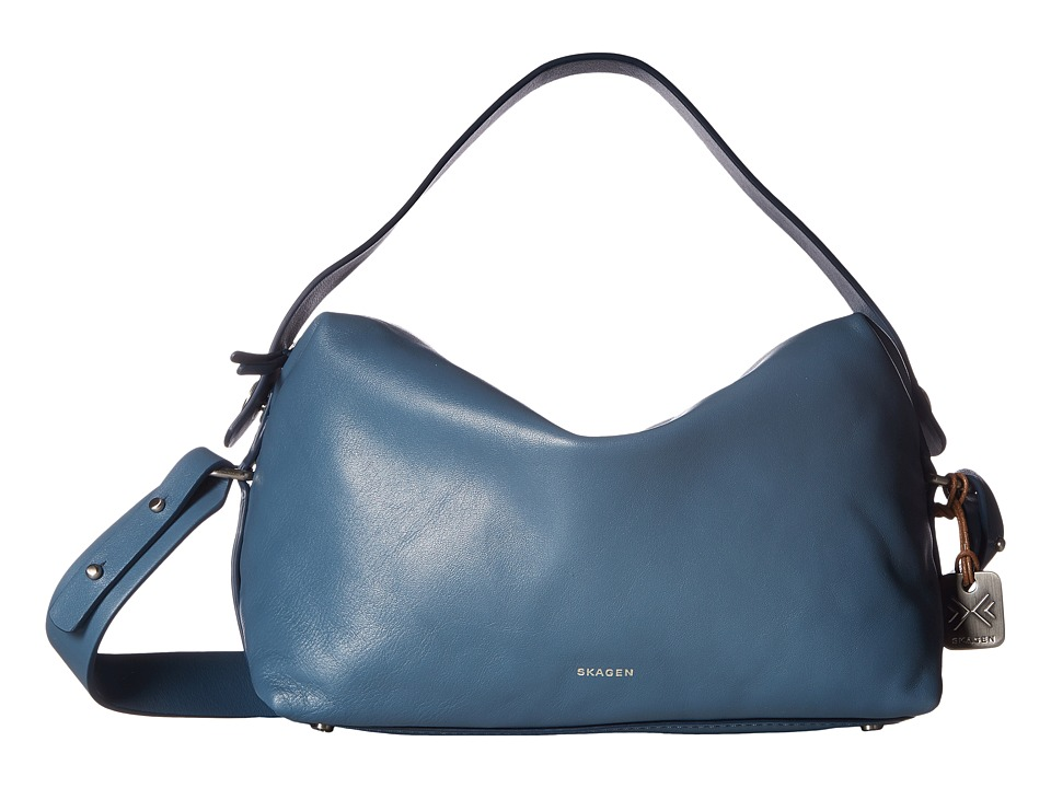 Skagen - Ronne Satchel (Smokey Blue) Satchel Handbags