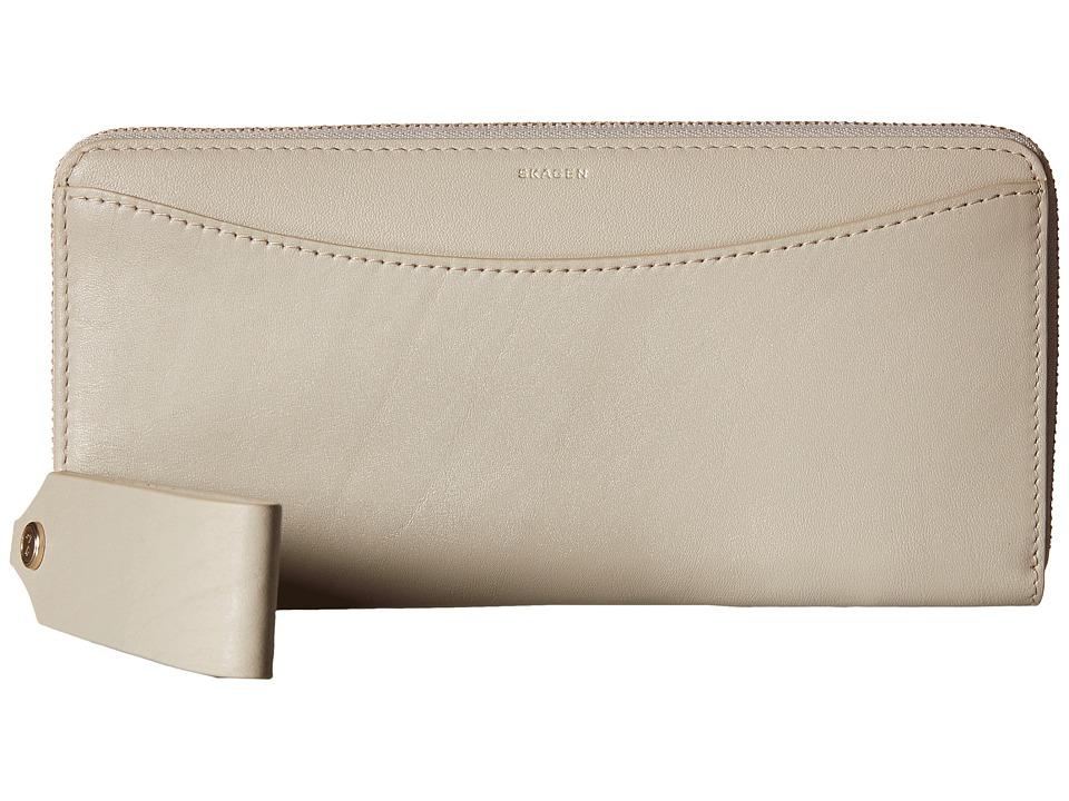 Skagen - Hanne Zip Wallet (Oatmeal) Wallet Handbags