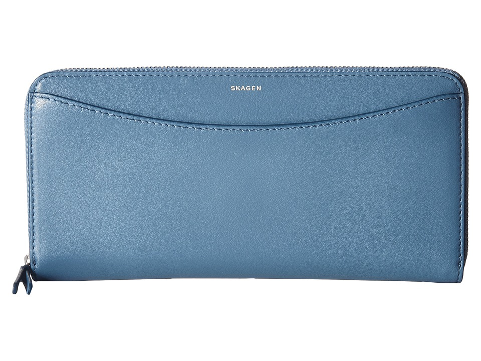 Skagen - Hanne Zip Wallet (Smokey Blue) Wallet Handbags