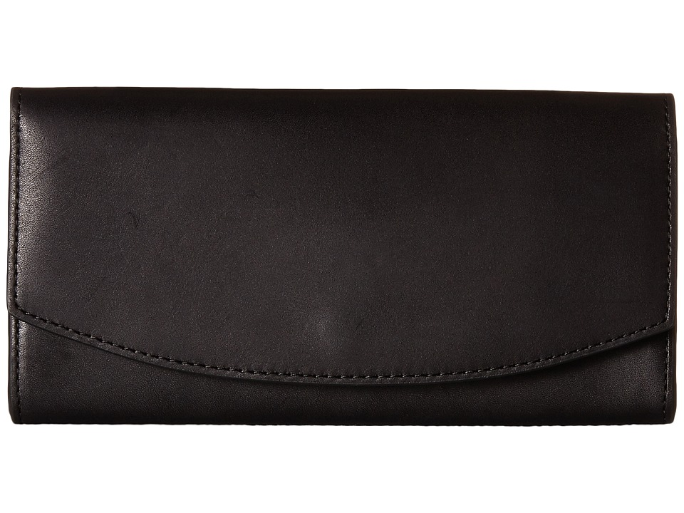 Skagen - Dinesen Flap Wallet (Black) Wallet Handbags