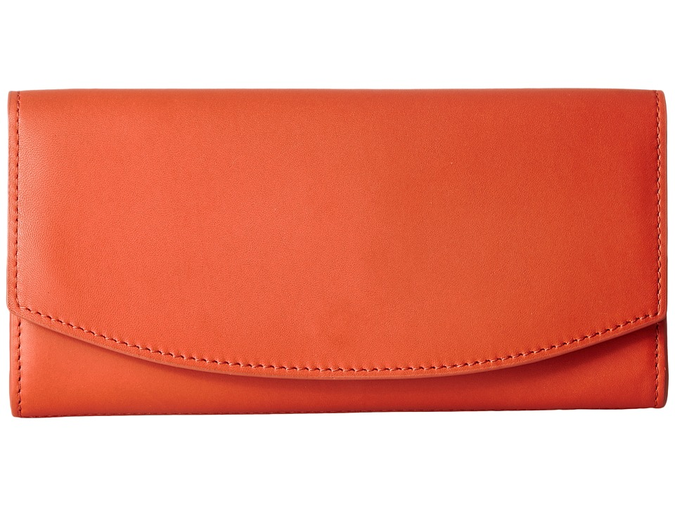 Skagen - Dinesen Flap Wallet (Bright Orange) Wallet Handbags