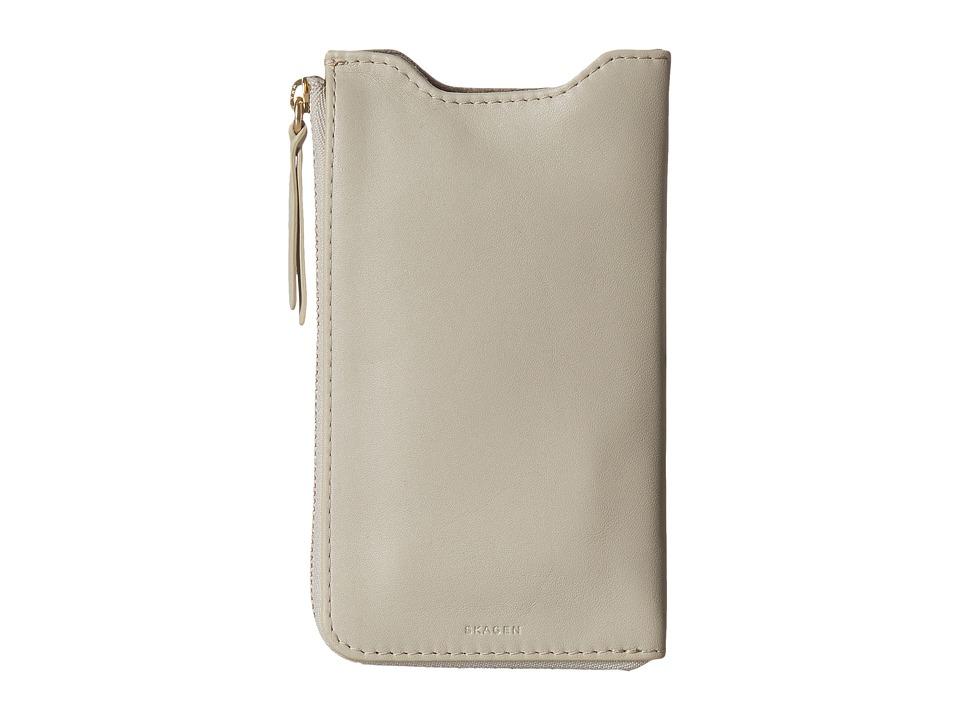 Skagen Lilli iPhone 6 Sleeve/Wallet (Oatmeal) Wallet Handbags