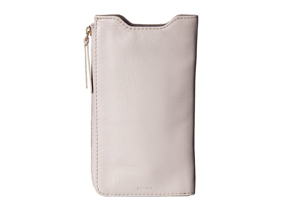 Skagen - Lilli iPhone 6+ Sleeve/Wallet (Oatmeal) Wallet Handbags