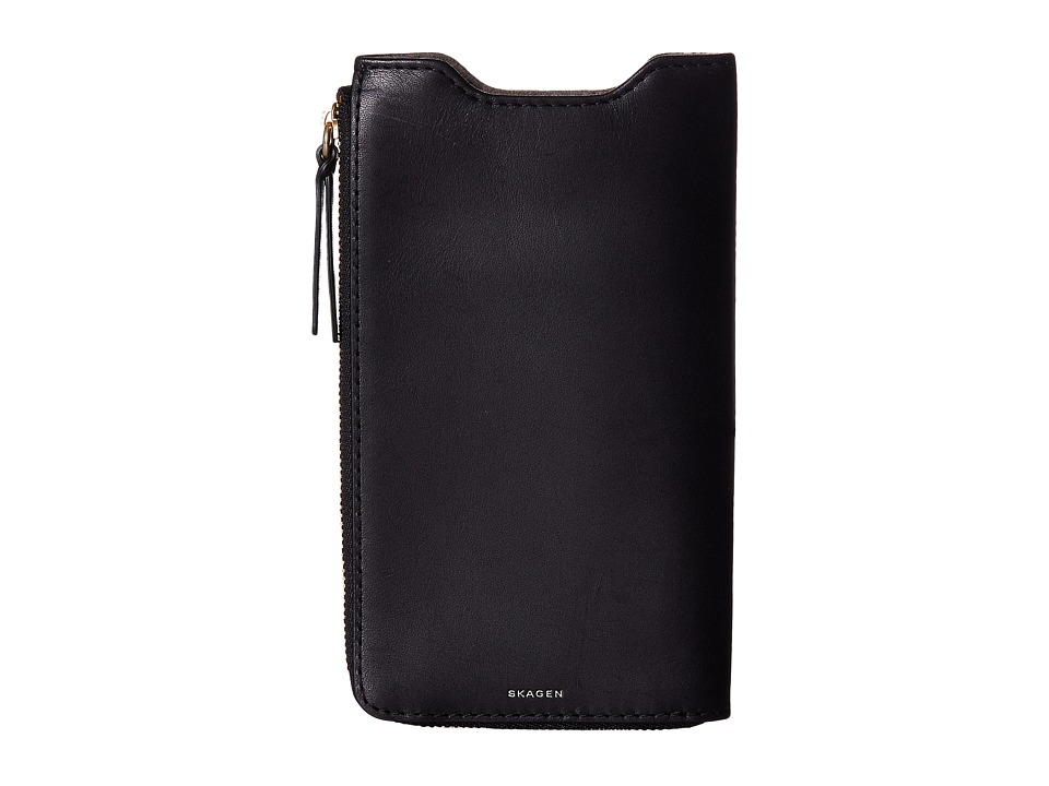 Skagen - Lilli iPhone 6+ Sleeve/Wallet (Black) Wallet Handbags