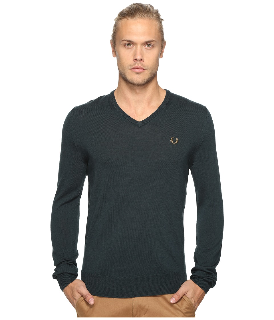 Fred Perry - Classic V-Neck Sweater (British Racing Green) Men's Sweater
