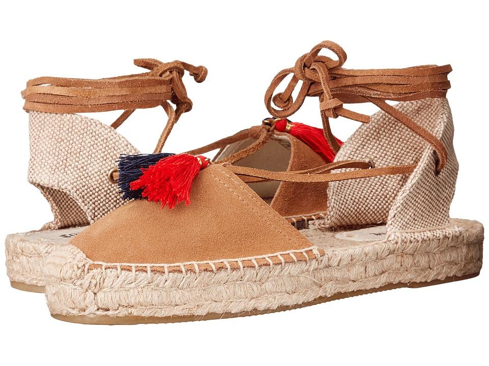 Soludos - Platform Gladiator Sandal (Tan Suede) Women's Sandals