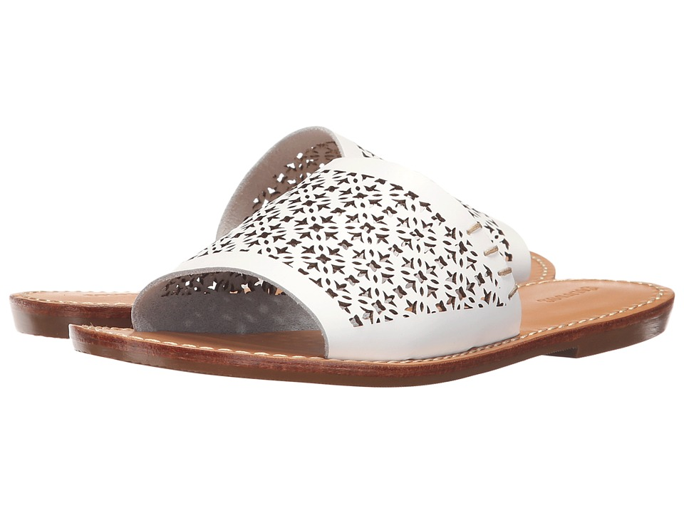 Soludos Slide Sandal (White Leather) Women