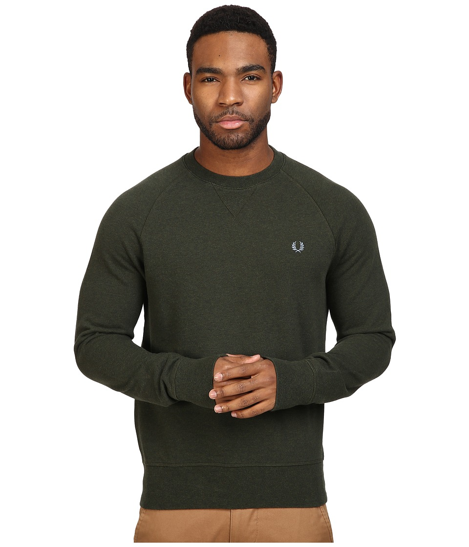 Fred Perry - Loopback Crew Sweater (British Racing Green) Men's Sweatshirt