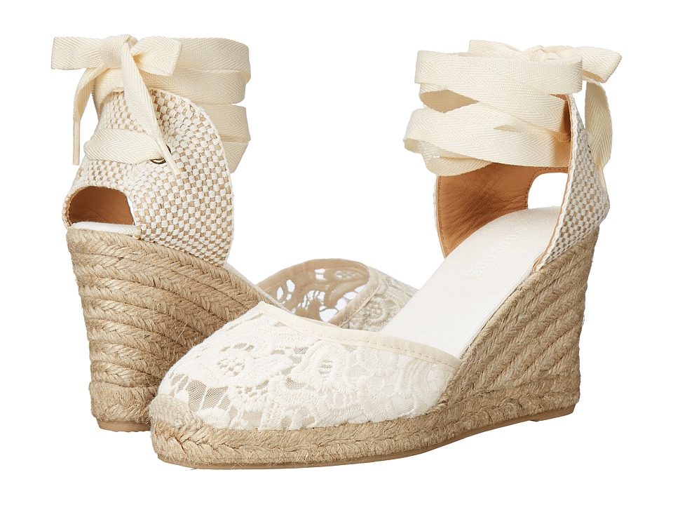 Soludos - Tall Wedge (Ivory Cotton Lace) Women's Wedge Shoes