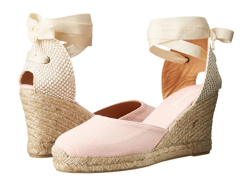 Soludos - Tall Wedge (Blossom Pink Cotton Canvas) Women's Wedge Shoes