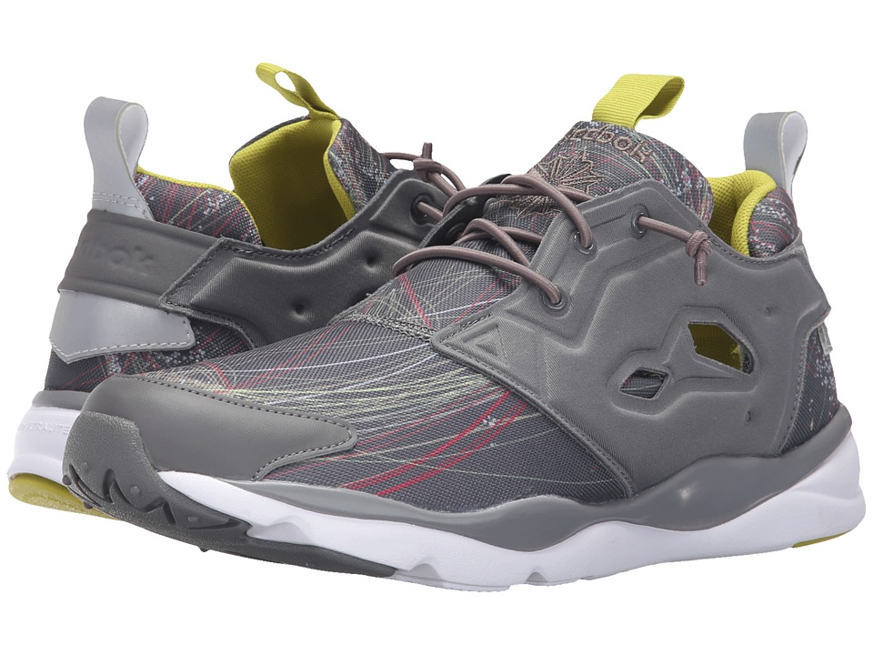 Reebok - Furylite JS (Medium Grey/Vermont Green/White) Men's Shoes