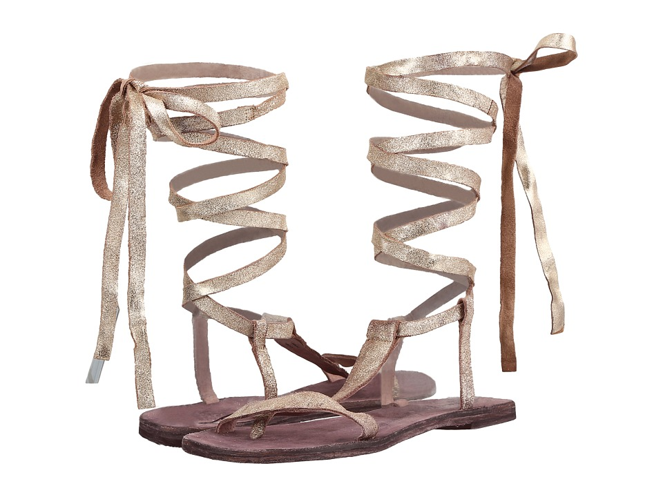 Free People - Dahlia Lace-Up Sandal (Sunkissed) Women's Sandals
