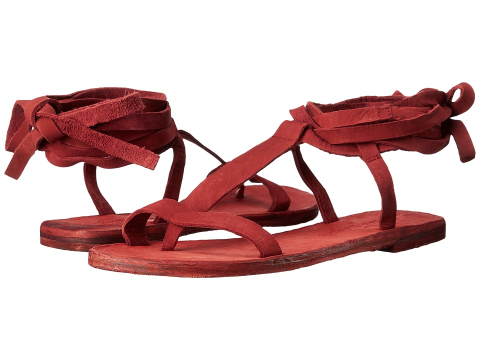 Free People - Dahlia Lace-Up Sandal (Rust) Women's Sandals