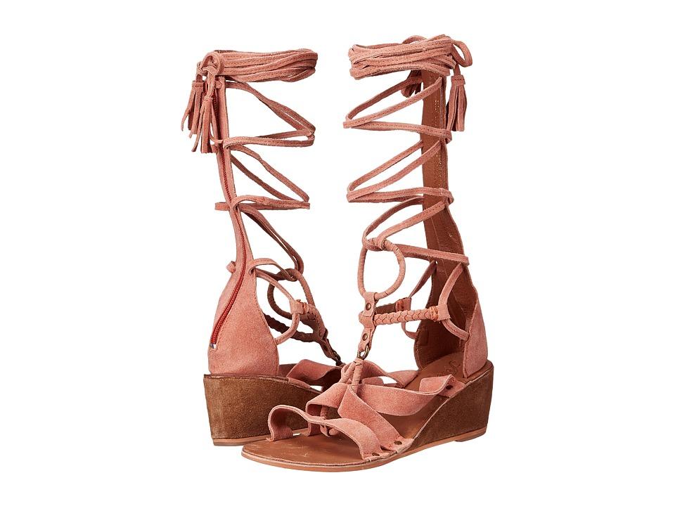 Free People - Saltarello Mini Wedge (Rust) Women's Wedge Shoes