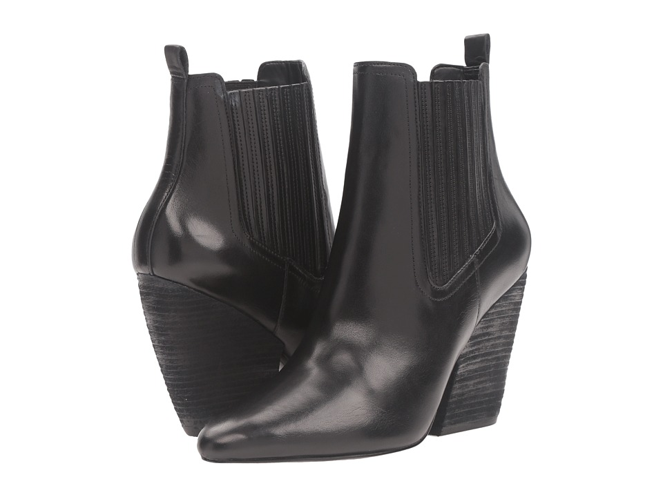 KENDALL + KYLIE - Nanci (Black Leather/Cordoba) Women's Shoes