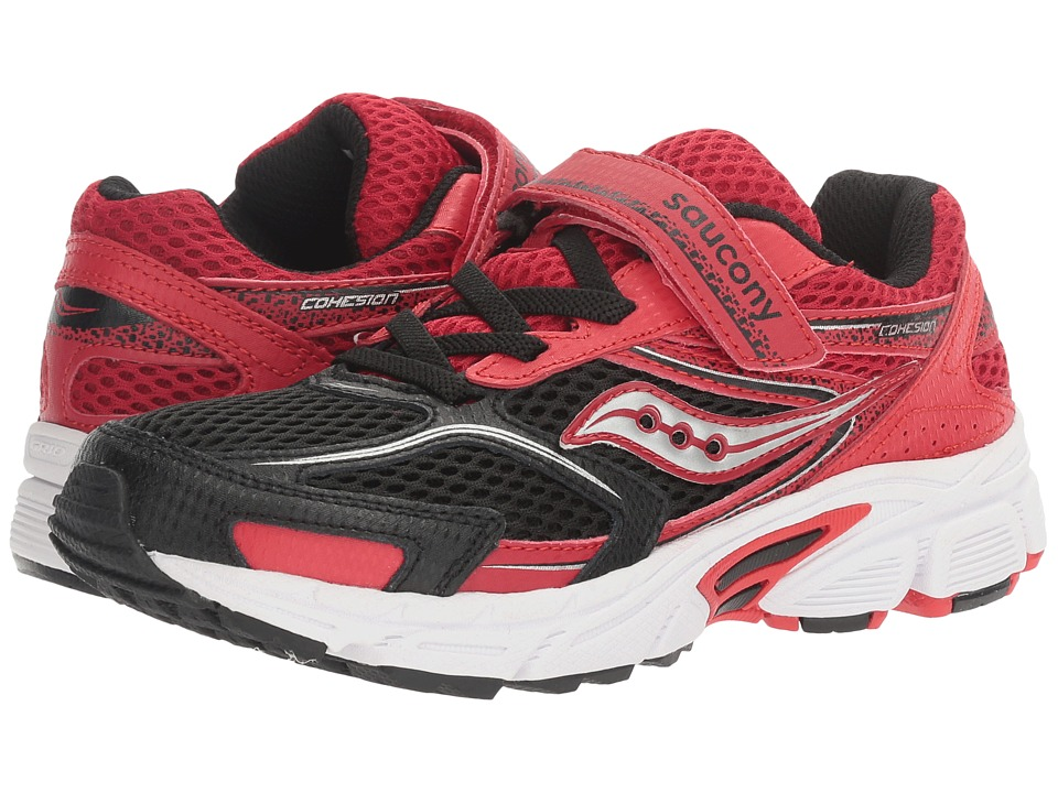 Saucony Kids - Cohesion 9 A/C (Little Kid) (Red/Black) Boys Shoes