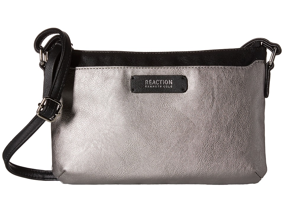 Kenneth Cole Reaction - Right Angles Mini Crossbody (Pearlized Silver) Cross Body Handbags