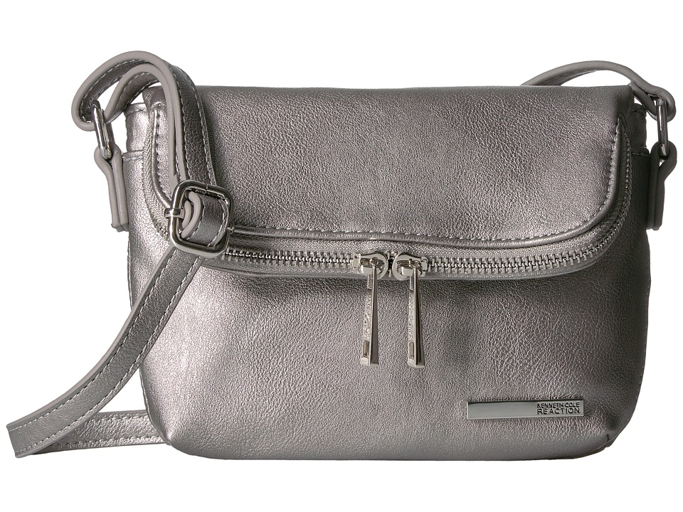 Kenneth Cole Reaction - Wooster Street Foldover Crossbody (Silver) Cross Body Handbags