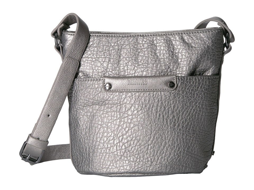Kenneth Cole Reaction - Hard Soft Mini Crossbody (Pearlized Silver) Cross Body Handbags