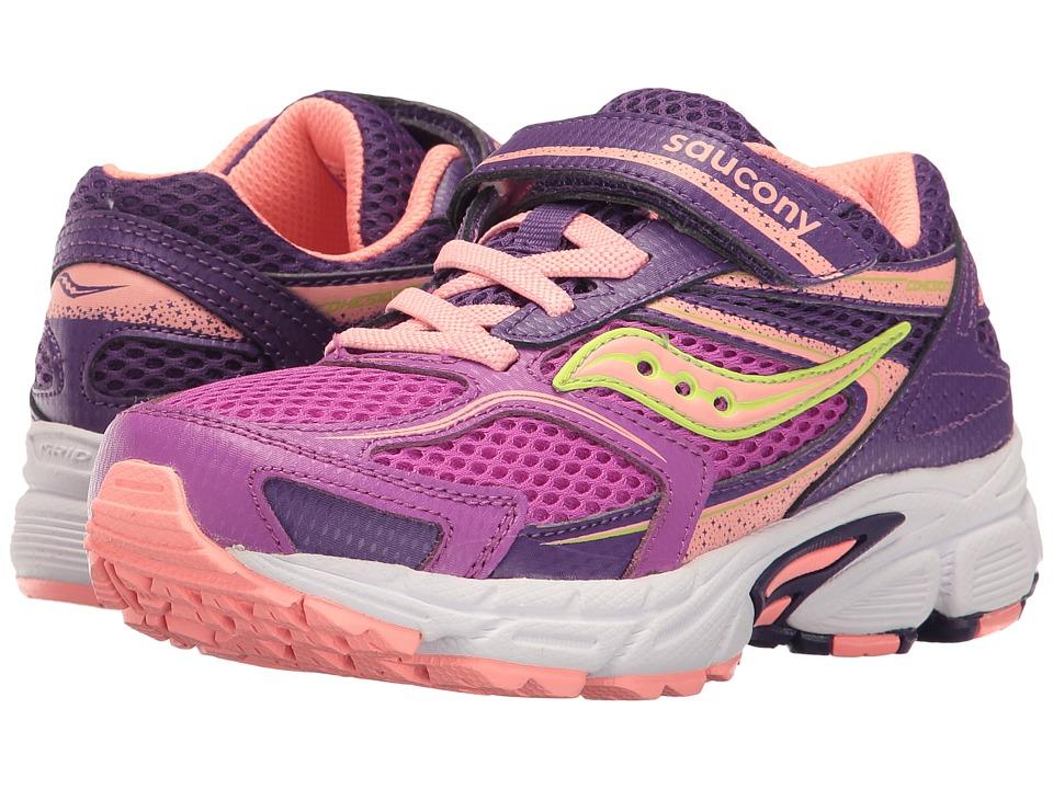 Saucony Kids - Cohesion 9 A/C (Little Kid) (Purple/Coral) Girls Shoes