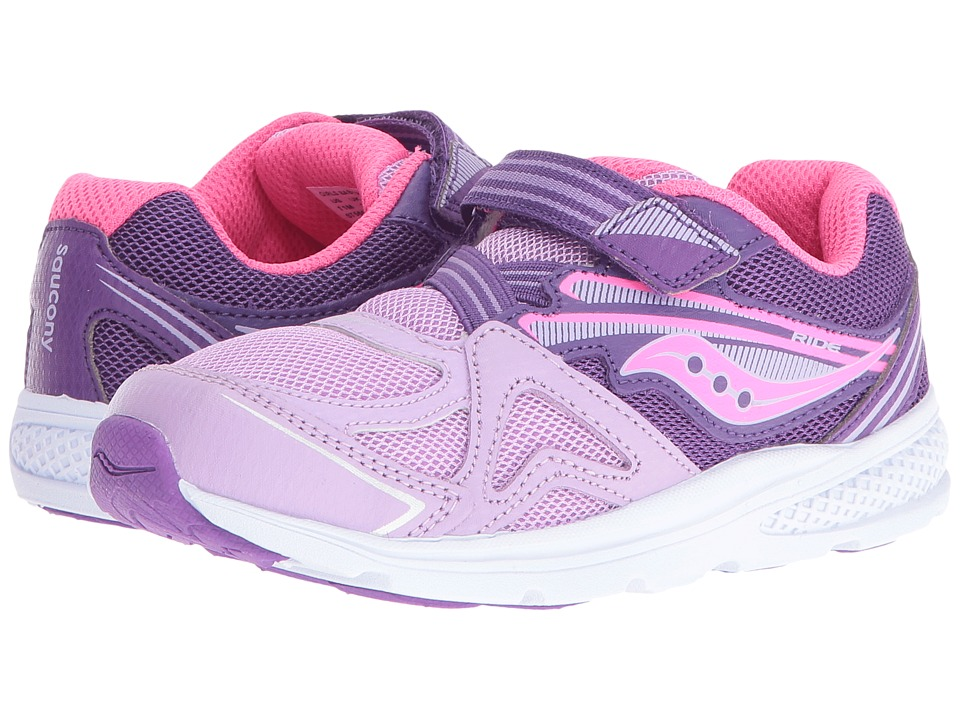 Saucony Kids Ride (Toddler/Little Kid) (Purple 1) Girls Shoes