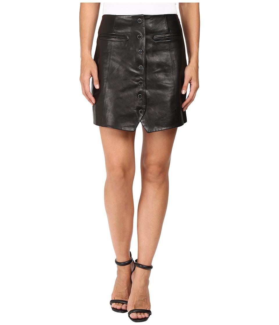 Rachel Zoe - Ciara Leather Skirt (Black) Women's Skirt