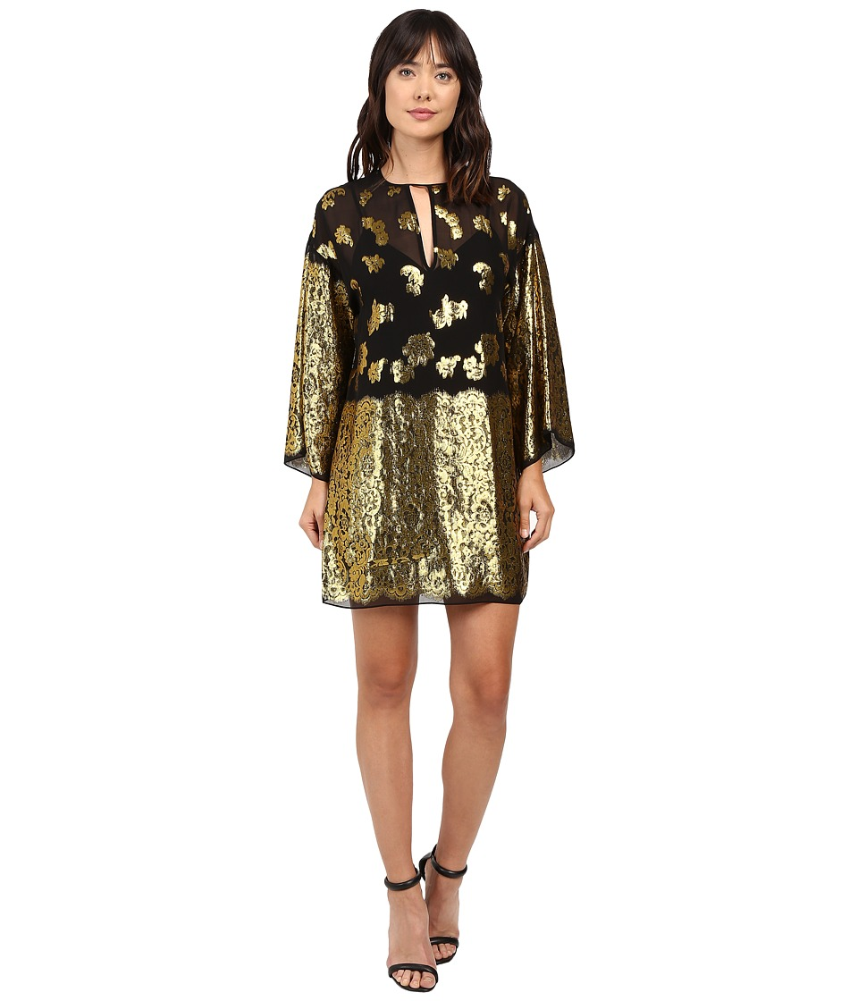 Rachel Zoe - Iris Dress (Black/Gold) Women's Clothing