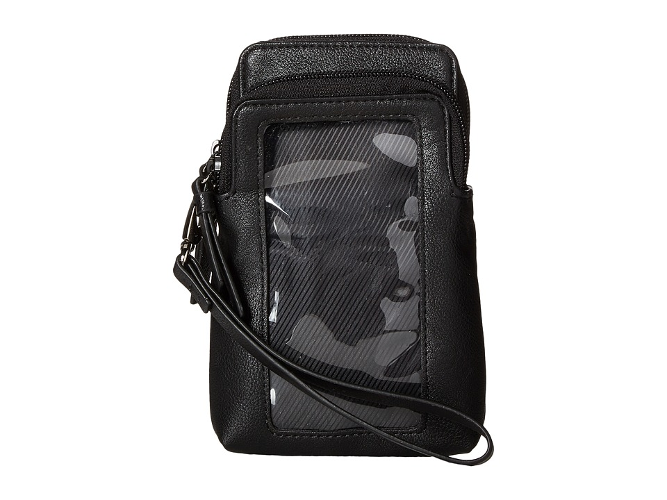 Kenneth Cole Reaction - Must Haves Top Zip Phone Pouch (Black) Handbags