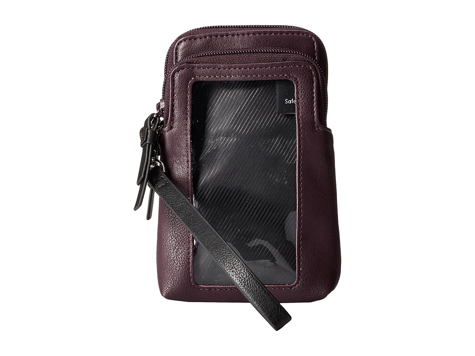 Kenneth Cole Reaction - Must Haves Top Zip Phone Pouch (Blackberry) Handbags