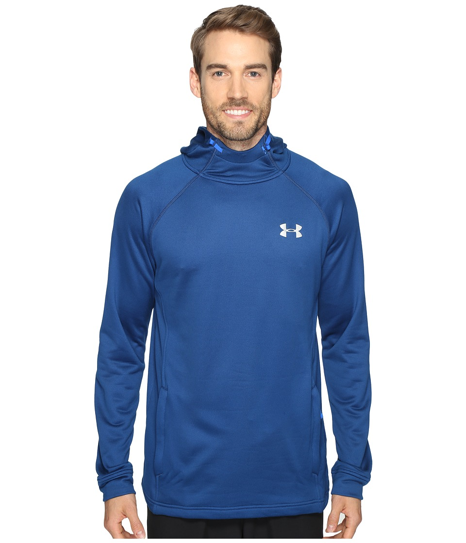Under Armour - Tech Terry Popover (Blackout Navy/Blackout Navy/Silver) Men's Sweatshirt