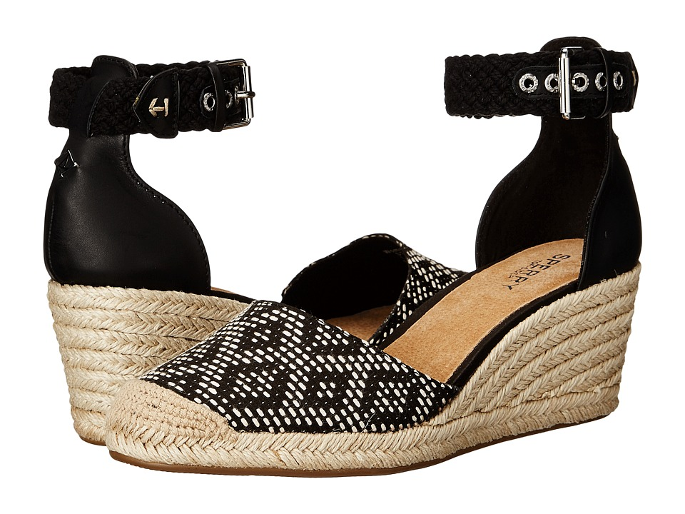 Sperry Top-Sider - Valencia (Black/White Tribal) Women's Wedge Shoes