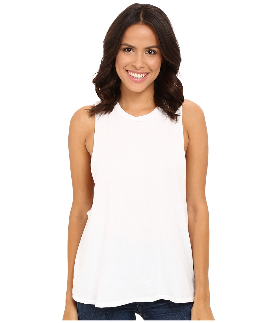 Michael Stars - Worn In Crew Neck Shell (White) Women's Sleeveless