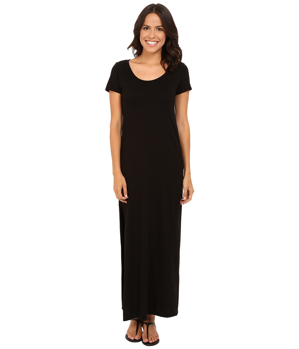Michael Stars - Tee Shirt Maxi Dress with Slit (Black) Women's Dress