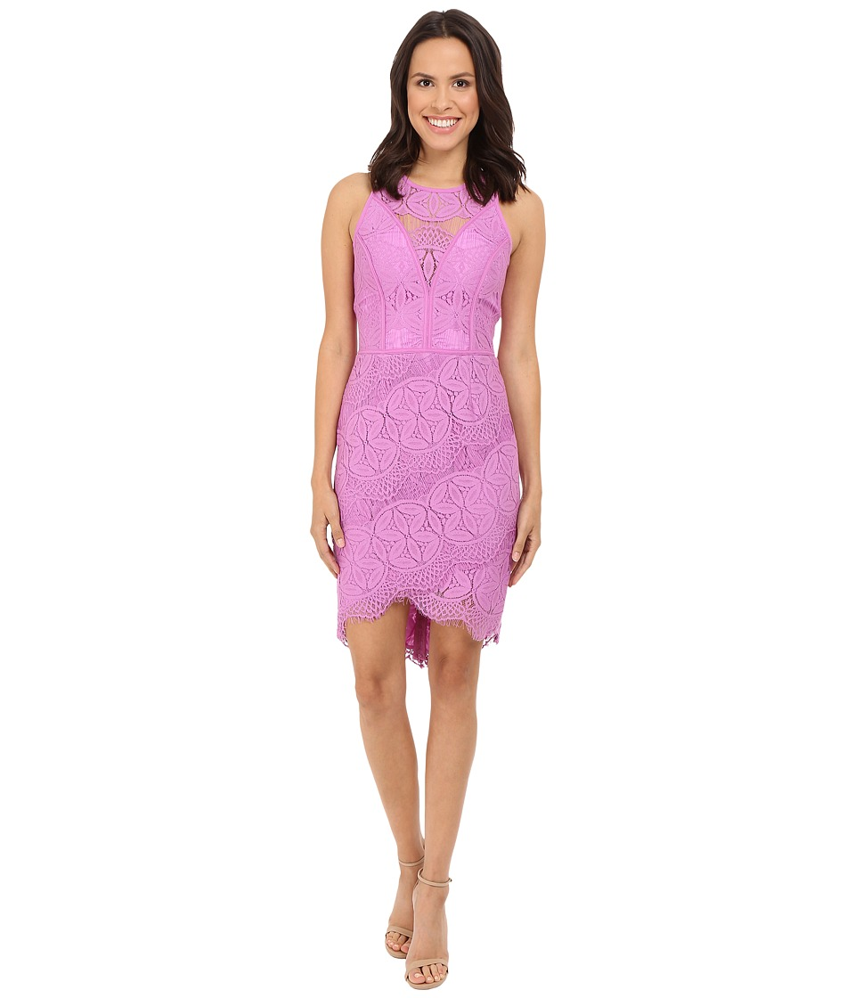 Adelyn Rae - Lace Shirt Tail Dress (Lilac) Women's Dress