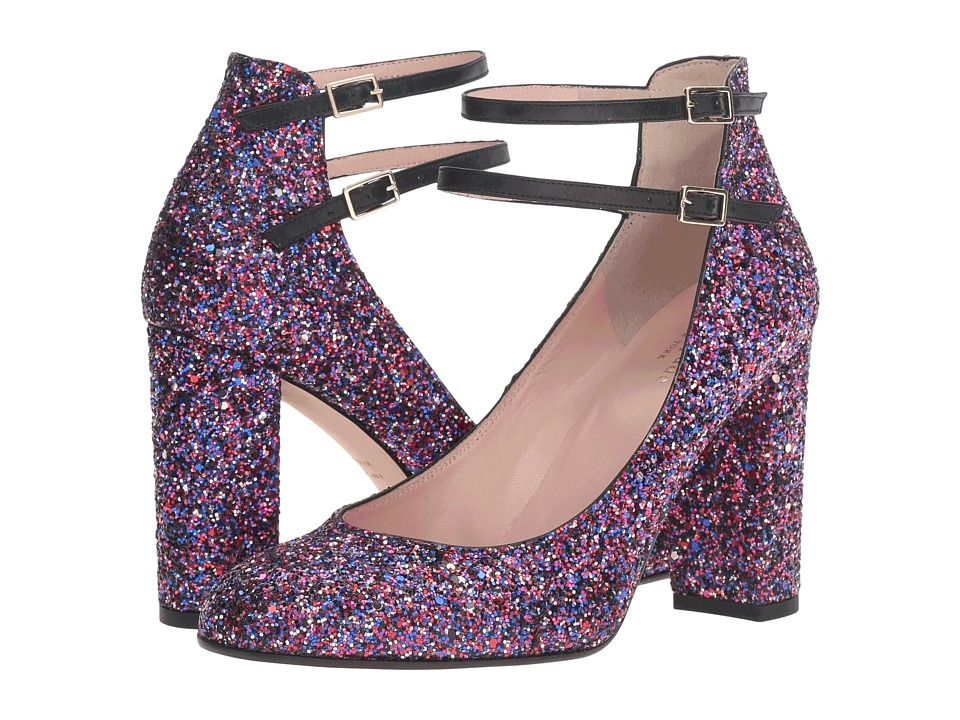 Kate Spade New York Baneera (Purple Glitter/Black Nappa) Women