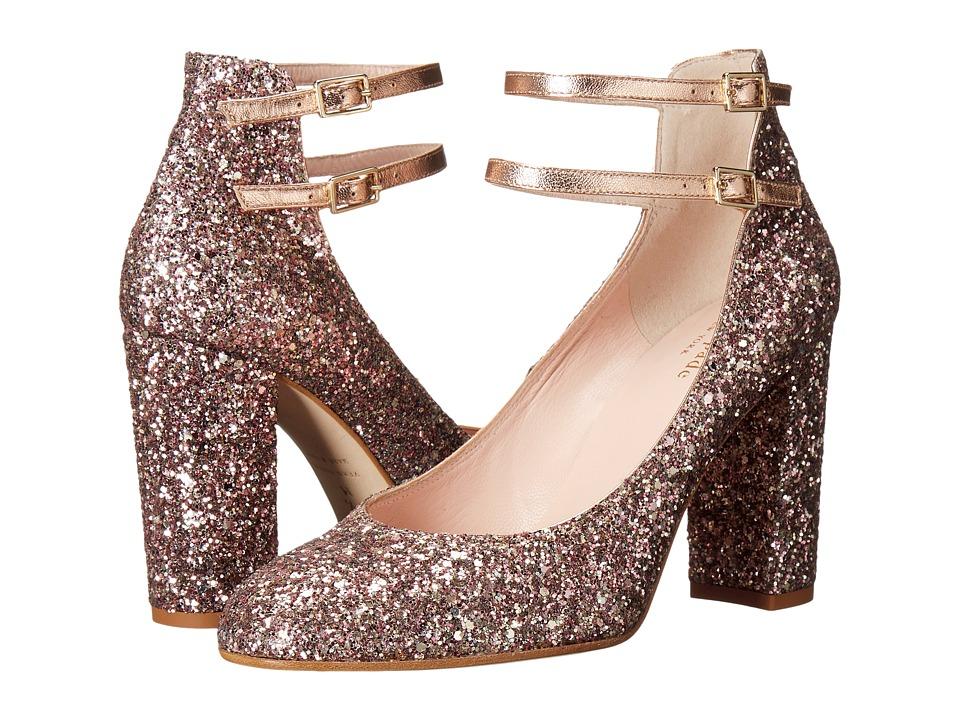 Kate Spade New York Baneera (Rose Gold Multi Glitter/Metallic Nappa) Women
