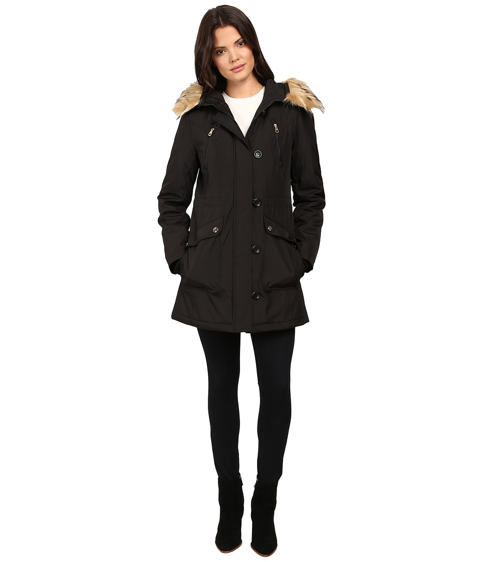 Jessica Simpson - Snorkle Anorak w/ Faux Fur (Black) Women's Coat