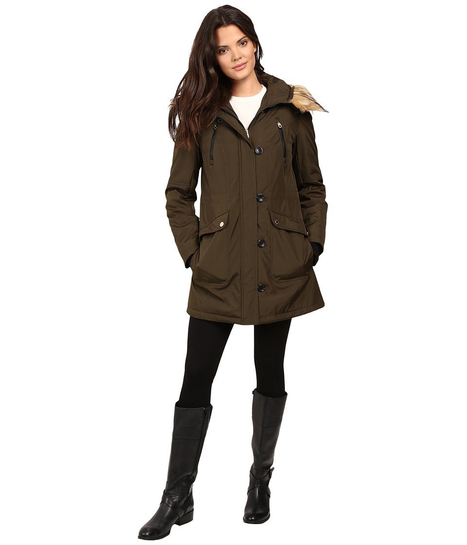 Jessica Simpson - Snorkle Anorak w/ Faux Fur (Loden) Women's Coat